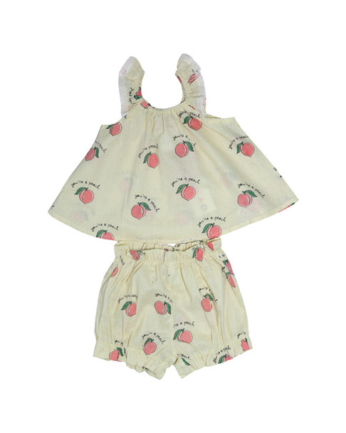Mi & O Layette Printed Top & Short~1511485844