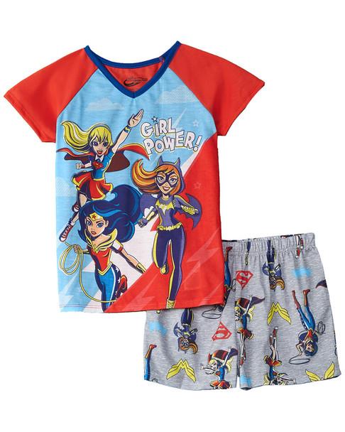 DC SuperHero Girls 2pc Short Sleep Set~1511704567