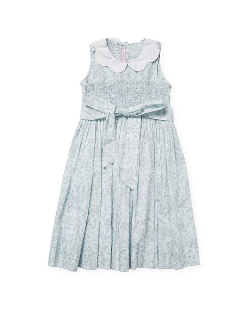 L'Enfant Lune Smocked Floral Dress~1511771492