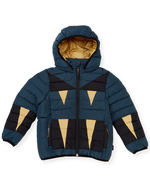 Molo Geo Print Quilted Hooded Jacket~1511772736