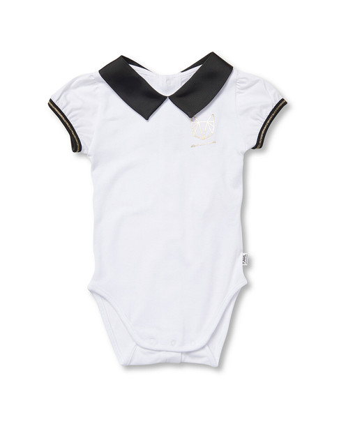 Karl Lagerfeld Collar Shirt Bodysuit~1511785516