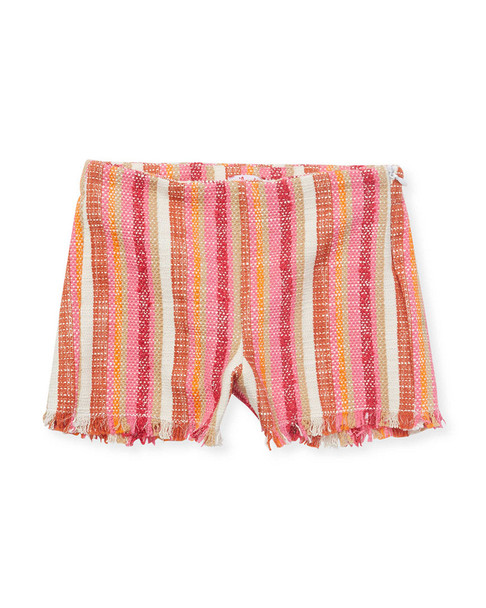 Il Gufo Little Striped Fringe Short~1511788225