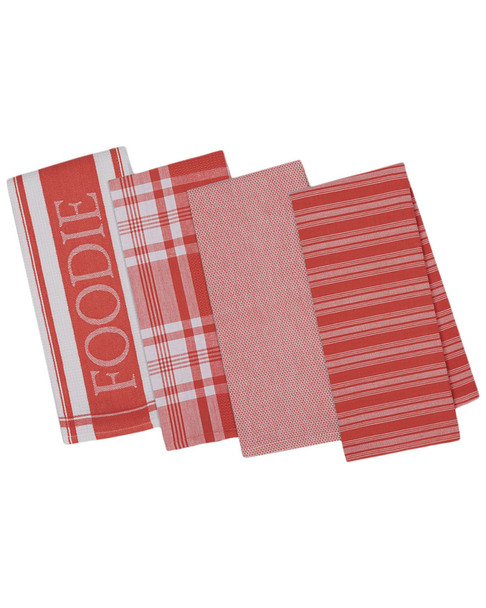 Design Imports Set of 4 Gourmet Kitchen Dishtowels~3010783964