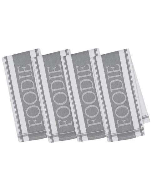 Set of 4 Foodie Jacquard Cotton Dish Towels~3010814501