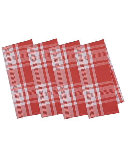 Set of 4 Kitchen Window Plaid Dish Towels~3010818570