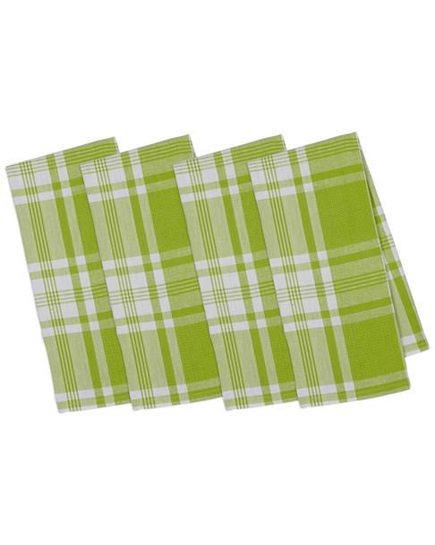 Set of 4 Pop Kitchen Window Plaid Dish Towels~3010818572