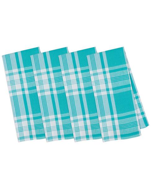 Set of 4 Kitchen Window Plaid Dish Towels~3010818575