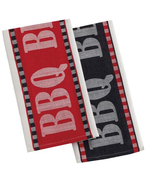 Design Imports Set of 2 BBQ Jacquard Dish Towels~3010831740