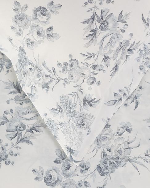 Whit & Alex Grey Floral Duvet Set~3030469051