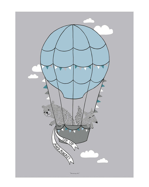 Bloomingville Mini Hot Air Balloon Poster~3050824342