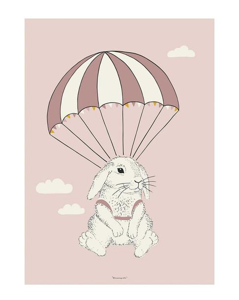 Bloomingville Mini Parachuting Bunny Poster~3050824343
