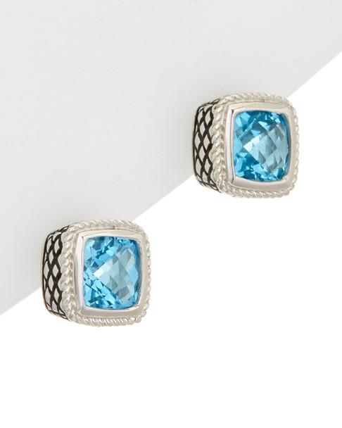 Andrea Candela Sterling Silver Gemstone Earrings~6030514368