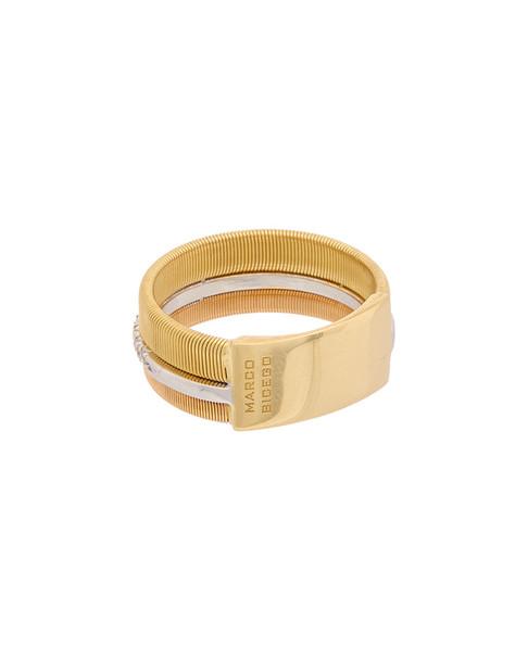 Marco Bicego Masai 18K Tri-Tone .13 ct. tw. Diamond Ring~6030844934