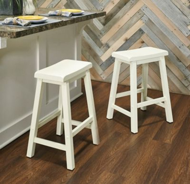 Color Story White Counter Stool -4284