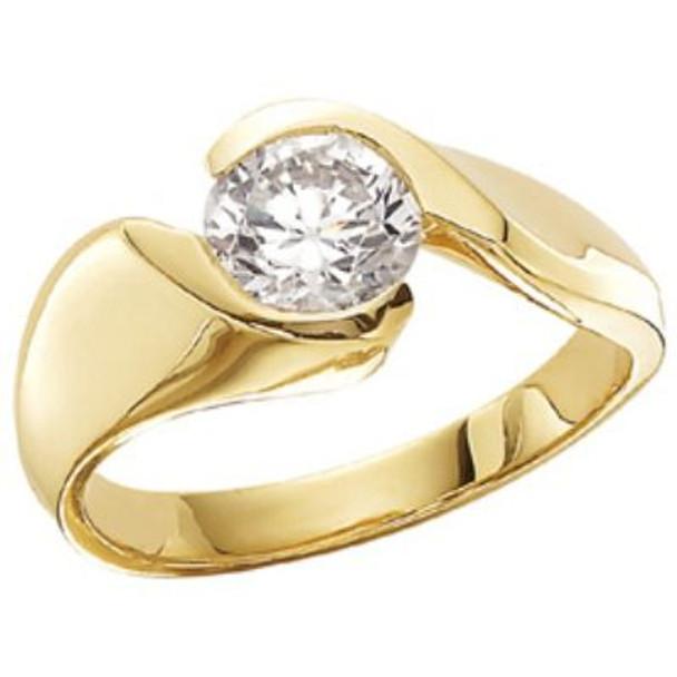 Women's Fashion Forward Tension Set Solitaire Diamond Engagement Ring - 1/4 ct tw-47408