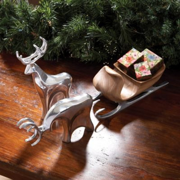 Holiday Sleigh with Reindeer - 3 Piece Set-242336