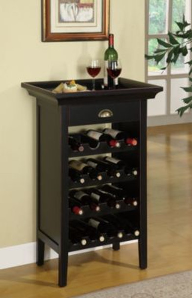 Black with Merlot Rub through Wine Cabinet-255651