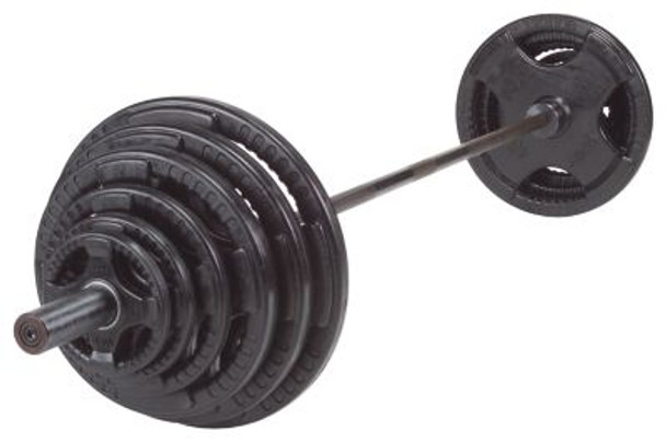 Rubber/Hand Grip 355 lb. Olympic Plate Set-263874