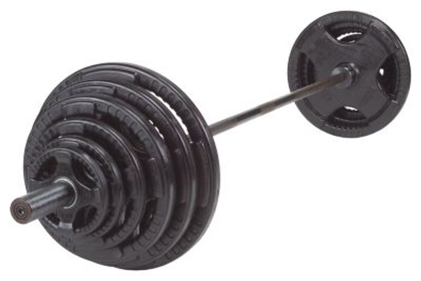 Rubber Grip 300 lb. Olympic Plate Set-263879