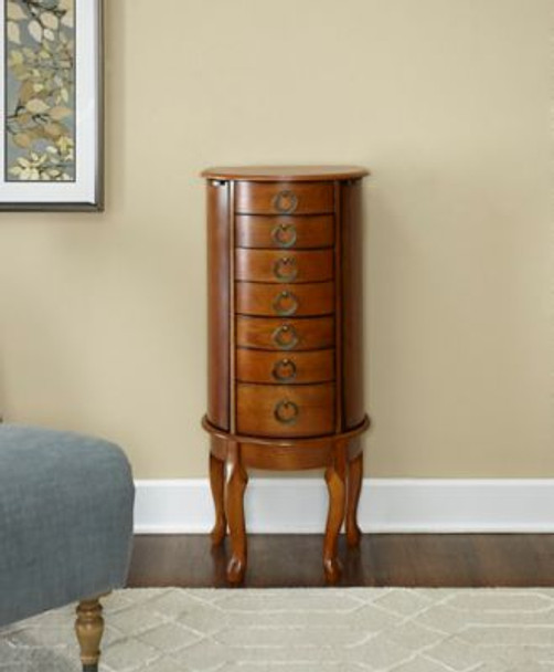 Burnished Oak Jewelry Armoire-658794