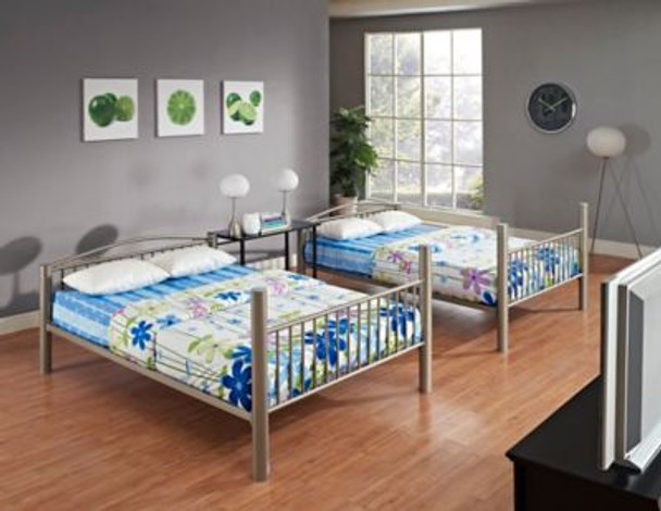 Heavy Metal Pewter Full Over Full Bunk Bed-658982