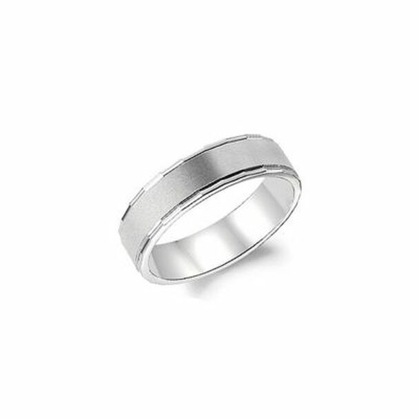 Carved 6MM Wedding Band  -680874