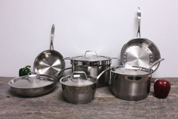 EarthChef Professional Stainless Steel Copper Clad 10-Piece Cookware Set-767964