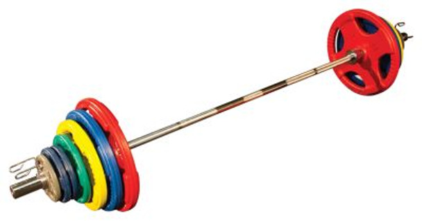 Colored Rubber Hand Grip 455 lb. Olympic Plate Set-1025234