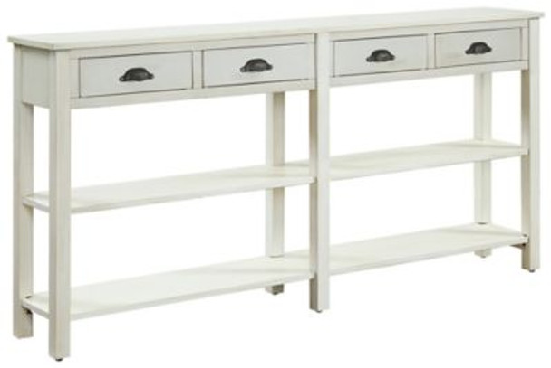 Cream Crackle Console-1055526
