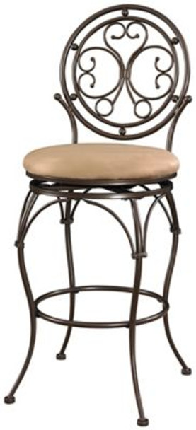 Big and Tall Scroll Circle Back Barstool-1055656