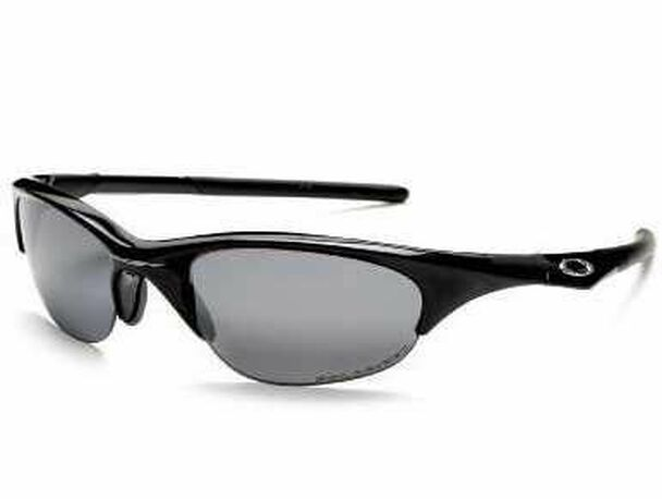 Polarized Half Jacket 2.0 Sunglasses-Polished Black/Black Iridium Polarized-1876245
