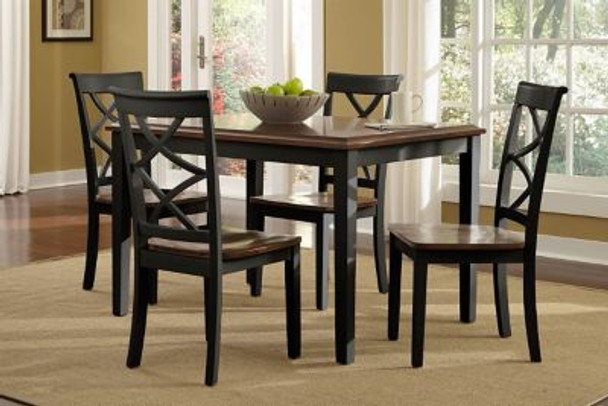 Harrison Black and Cherry 5-Piece Dining Set-1910487