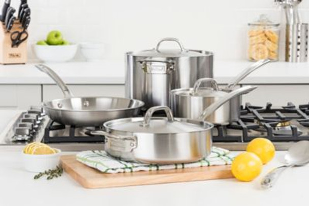 7-Piece 5-Ply Stainless Steel Cookware Set-2083919