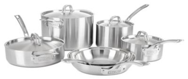 10 Piece 5 Ply Stainless Steel Cookware Set-2083920