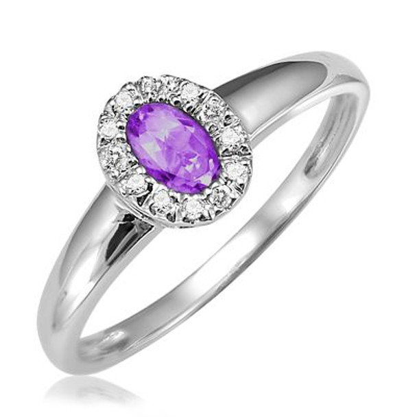 Amethyst & Diamond Ring-2506443