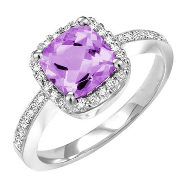 Amethyst & Diamond Ring-2506444