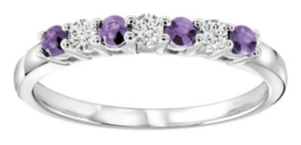 Amethyst & Diamond Ring-2506445