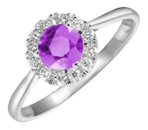 Amethyst & Diamond Ring-2506447