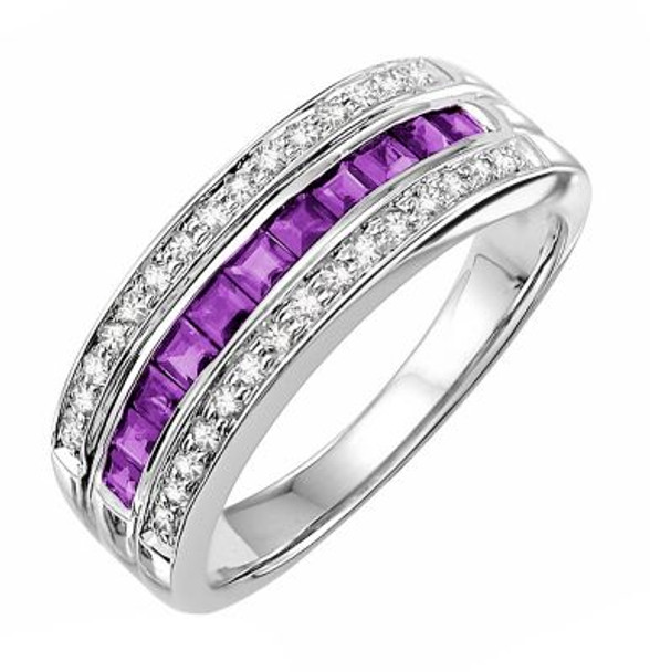 Amethyst & Diamond Ring-2506448