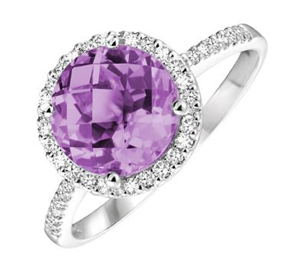 Amethyst & Diamond Ring-2506449