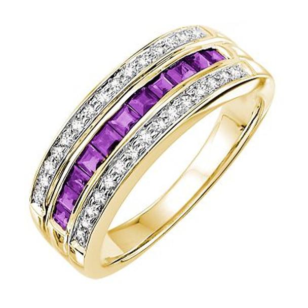 Amethyst & Diamond Ring-2506452