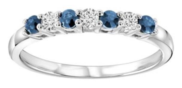 Blue Sapphire & Diamond Ring-2506455