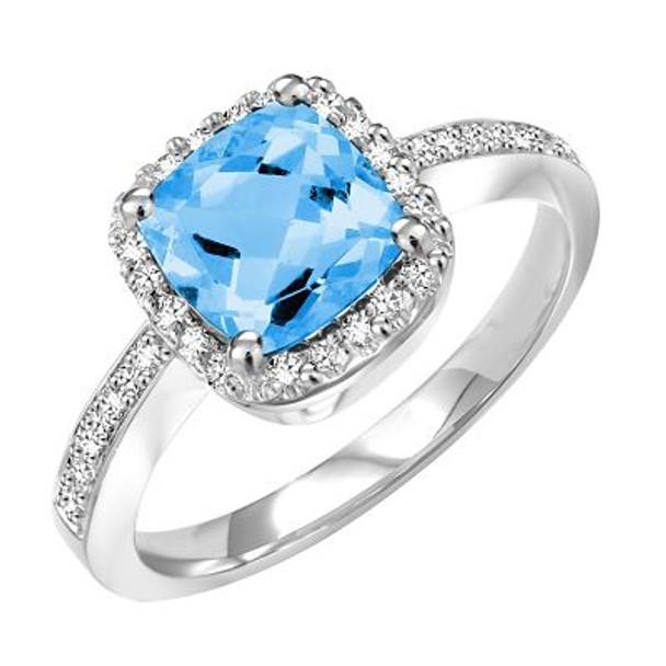 Blue Topaz & Diamond Ring-2506461