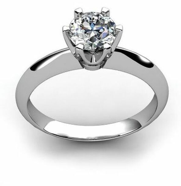 14K White Gold Diamond Engagement Ring-2506473