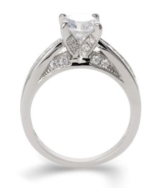 14K White Gold Diamond Engagement Ring-2506479