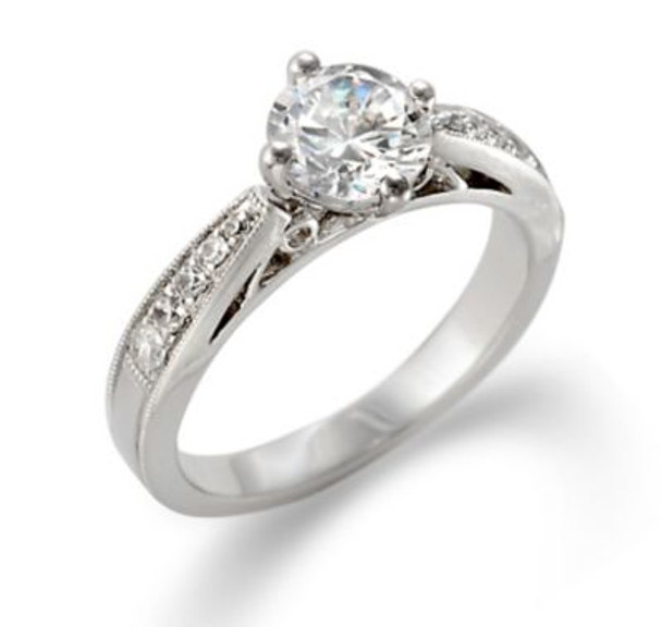 14K White Gold Diamond Engagement Ring-2506502