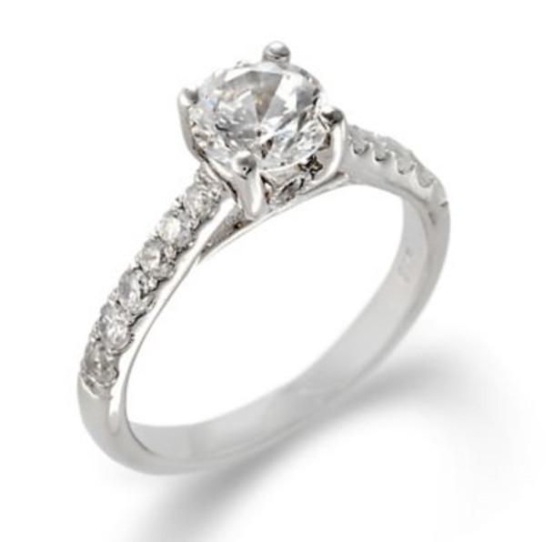 14K White Gold Diamond Engagement Ring-2506507