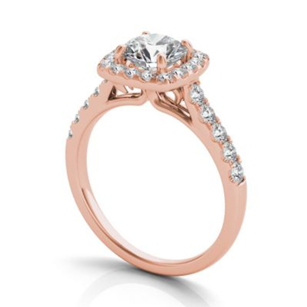 14K Rose Gold Diamond Engagement Ring-2506531
