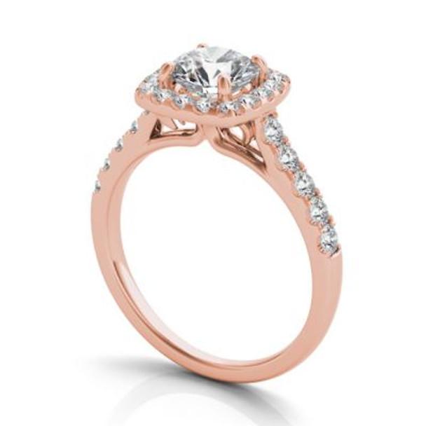 14K Rose Gold Diamond Engagement Ring-2506532