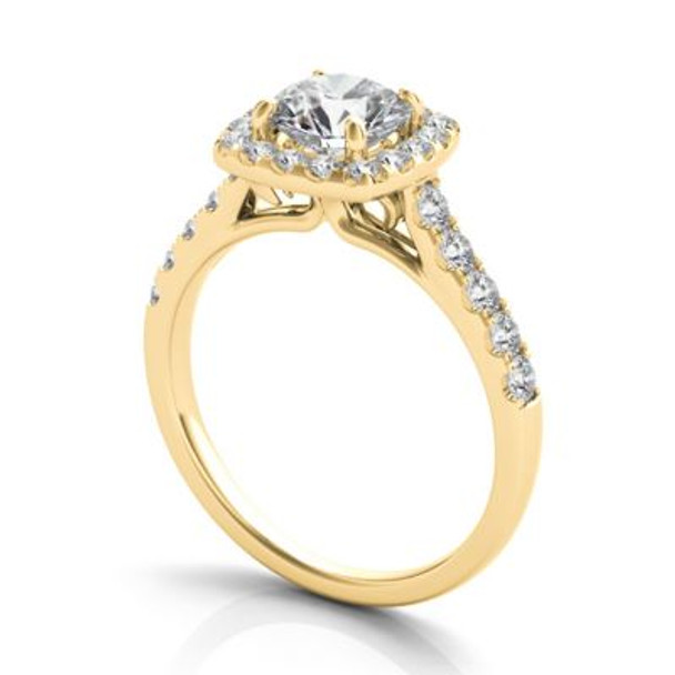 14K Yellow Gold Diamond Engagement Ring-2506537